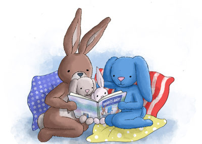 TheRabbitsofForestFarm-BunniesReading
